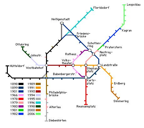 Вена, схема метро